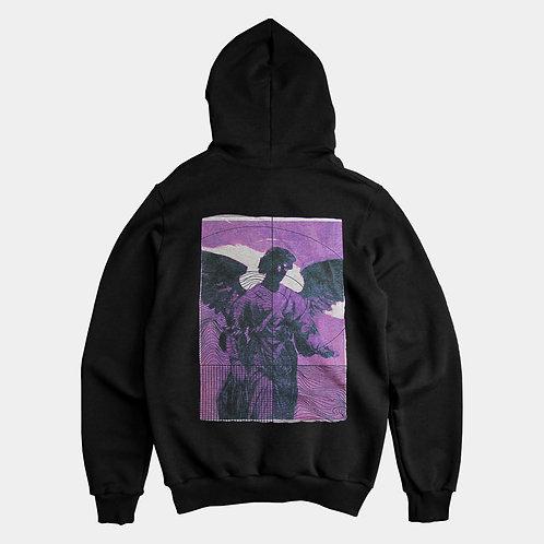 APATHY angel - black hoodie