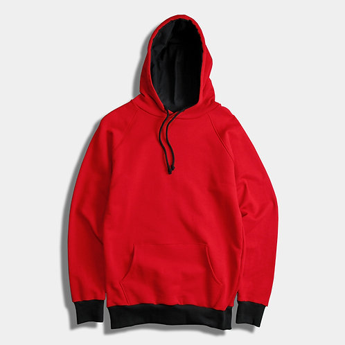 RED/black - basic hoodie