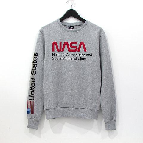 data di rilascio d9426 e5a8e NASA US - Felpa grigia unisex