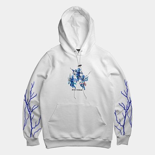 LIGHTNING - white hoodie