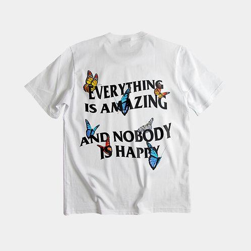 NOBODY IS HAPPY - White tee