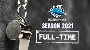 Cronulla JRL blows full-time on Season 2021