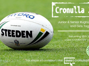 Junior Rugby League returning under COVIDSAFE guidelines