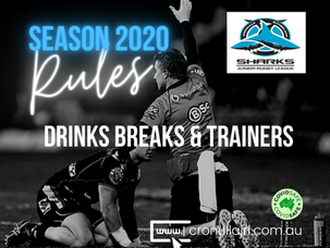 DRINKS BREAKS & TRAINER RULES