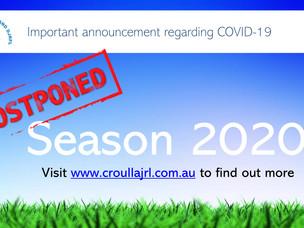 Season 2020 Postponed
