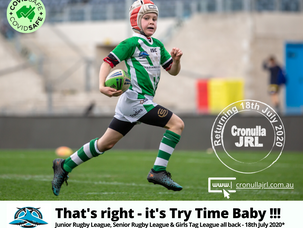 Junior Rugby League confirmed to return 18 July 2020