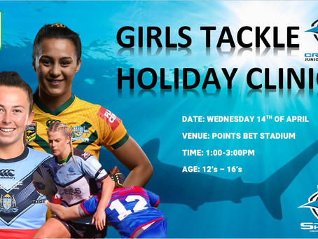 GIRLS COME AND TRY TACKLE CLINIC