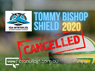 Tommy Bishop Shield 2020 - Cancelled
