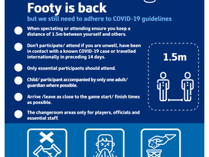 Be COVID-19 safe when footy returns