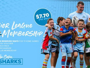 Junior League Special for Sharks Season Pass
