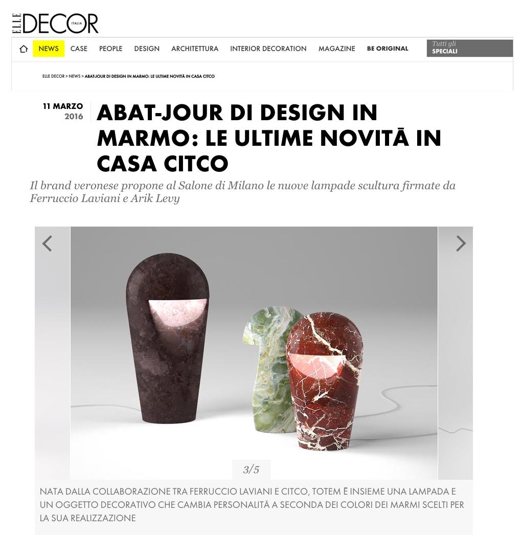 Totem Lamp for Citco