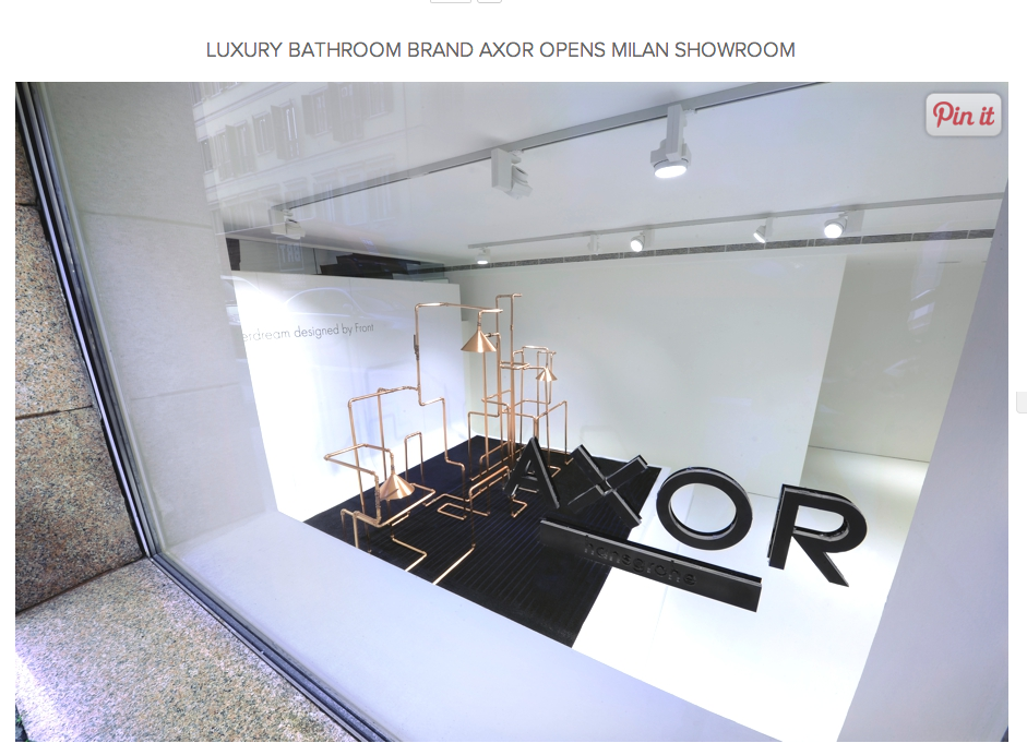 Axor opens Milan Showroom