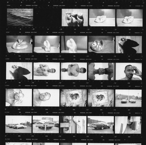 35mm Black and White Contact Sheet, P1.19.04