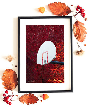 "No Hoops in Autumn 12""x18"" Print"