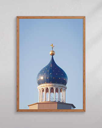 """Colt Armory Dome in Winter Morning Light 12""""x18 Print"""