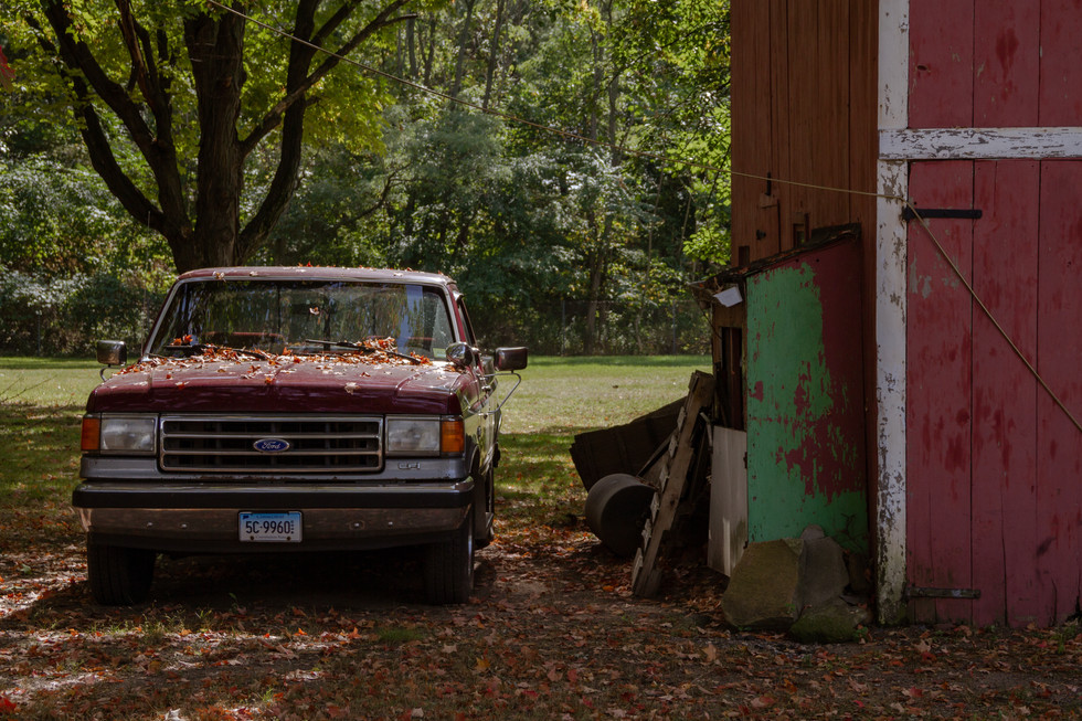 Red Truck x Red Barn (Close up)