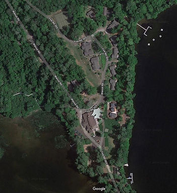 satellite image of camp wavus