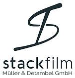 Firmenlogo stackfilm_petrol auf white_kl