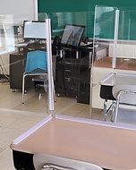 PPE L-Shape Desk Shield