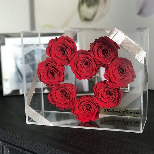 Kalp Şeklinde Kırmızı Solmayan Güller