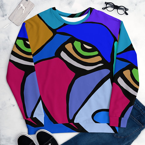 Judah (Blue) Full Design- Unisex Sweatshirt