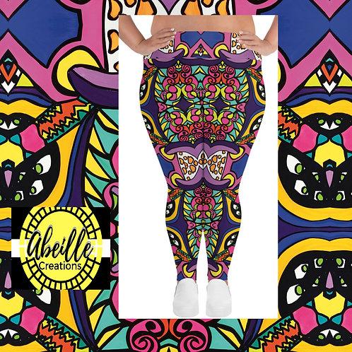 Abeille Leggings- Elaine Design (PLUS)