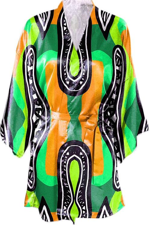 Satin Kimono Robe w/Belt- Bragg Design