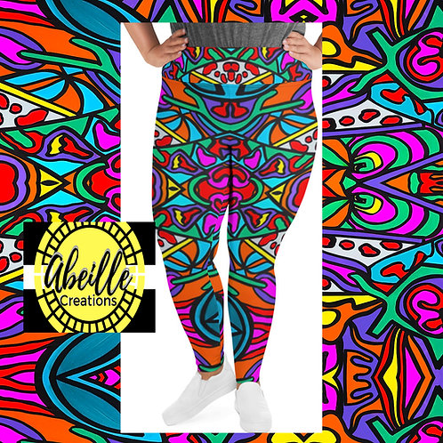 Abeille Leggings- Summer Design (PLUS)