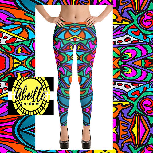 Abeille Leggings- Summer Design