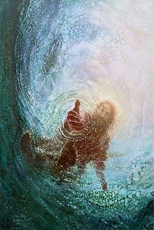 Jesus reaching in water..jpg