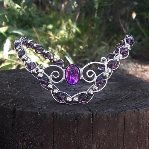 Spiral Crystal Beaded Diadem