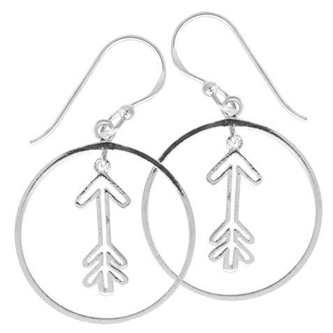 #070 Arrow in Circle Earrings