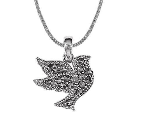 #007 Marcasite Dove Necklace