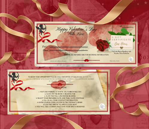 Gift Certificate 1 Hour Full Life Phone Reading