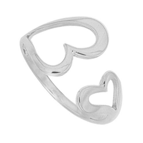 Double Open Heart Ring