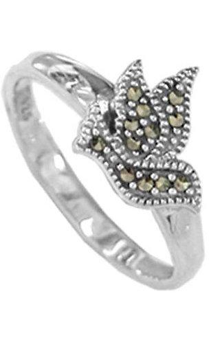 #092 Marcasite Dove Ring