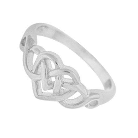Celtic Knot Heart Ring