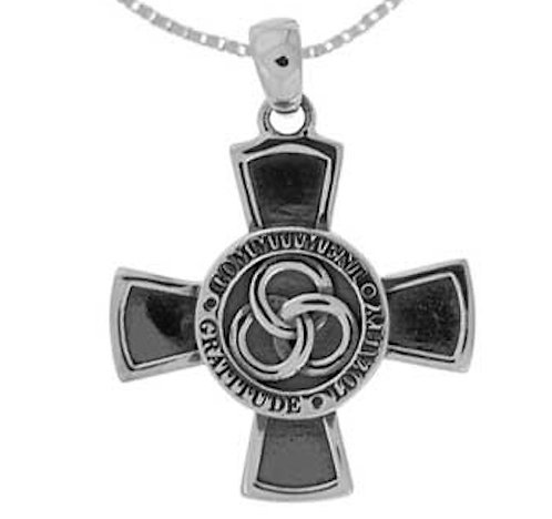 #019 Templar Cross with Trilogy Omega Necklace