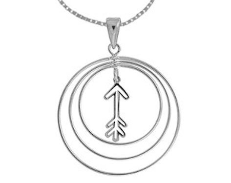 #013 Triple Circles with Arrows Necklace