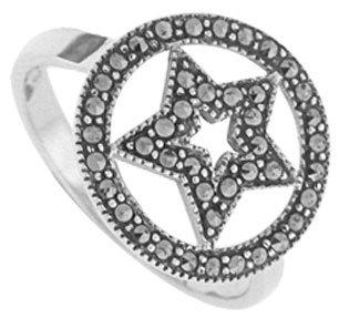 #094 Marcasite Mystical Traveler Ring