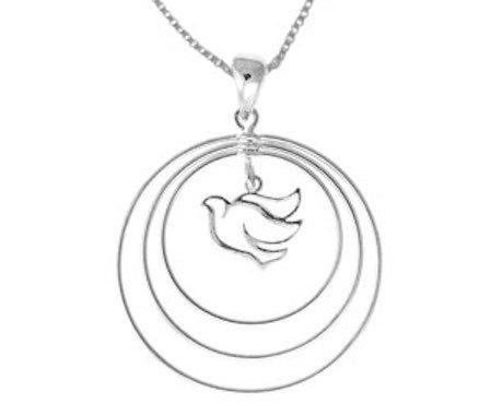 #002 Three Circle Open Dove Necklace