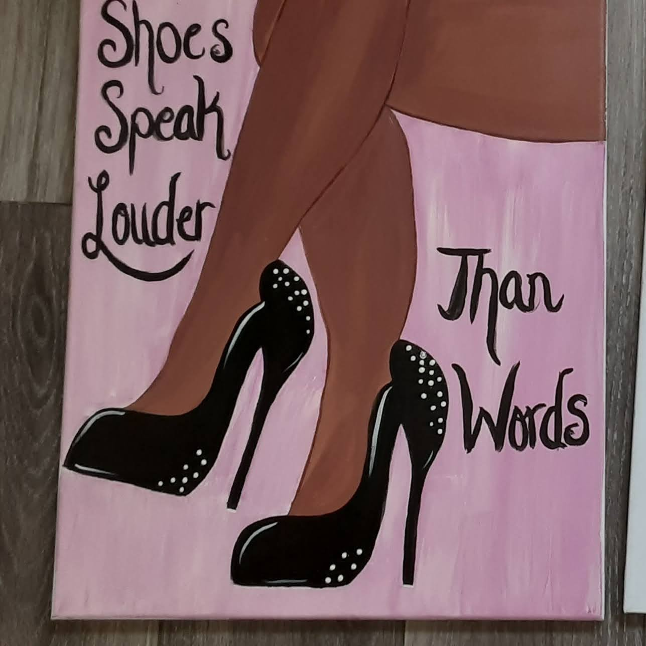 Shoes speak louder than worlds