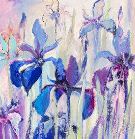 051121 // Flower Power Dynamische Acrylmalerei // Ruth Alice Kosnick