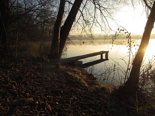 Nochmal der Steg, und immerwieder der See. Man kann sich nicht satt genug sehen.