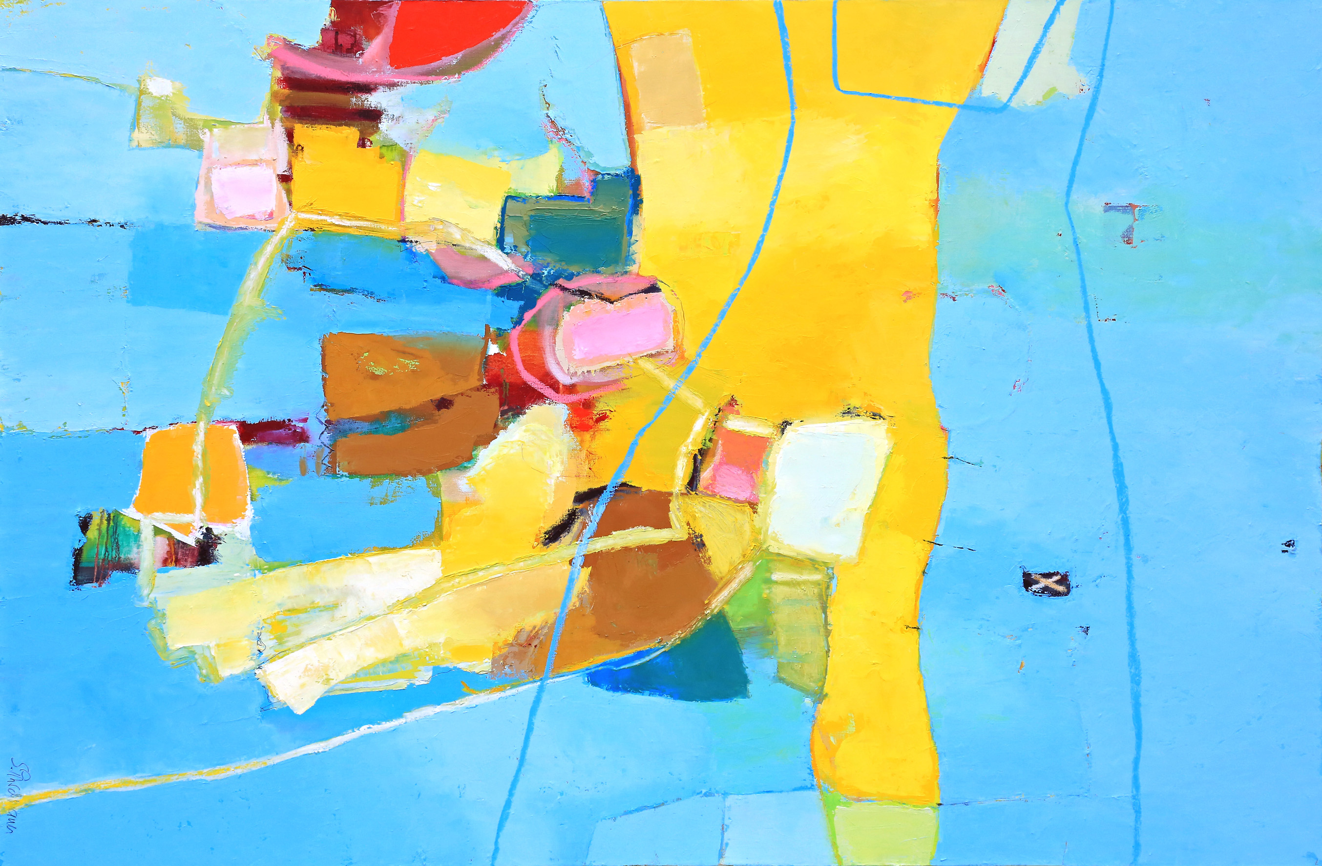 _, 110 x 150, Öl auf Maltuch, 2016