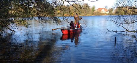 Bootfahren auf dem See.