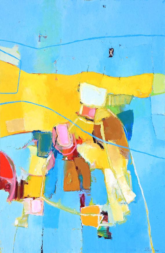 verwehtes-110 x 150-Oel auf Maltuch- 201