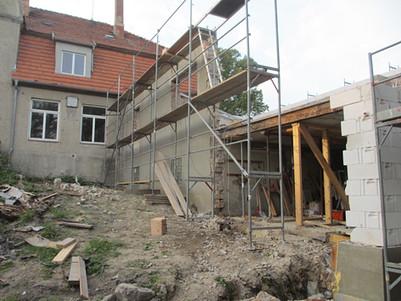 während der Bauphase!