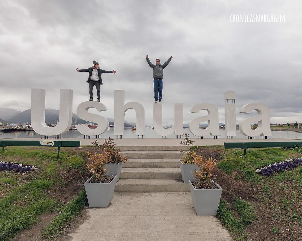 Letreiro escrito Ushuaia