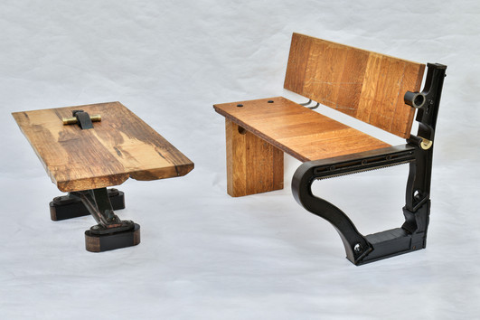 Industrial Bench and Coffee Table